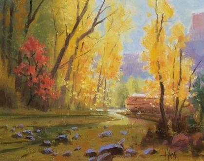 "Shady Creek - Arizona 11"" x 14"" oil painting by Tom Haas"
