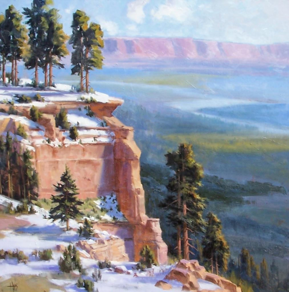 "Tip Top 48"" x 48"" oil painting by Tom Haas"
