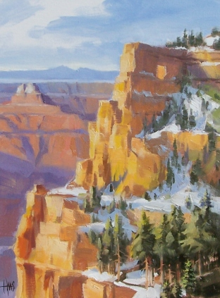 """Angel's Window - Grand Canyon 16"""" x 12"""" oil painting by Tom Haas"""