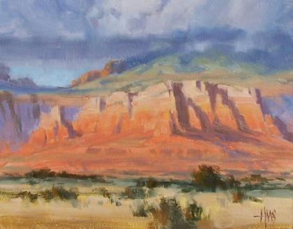 "Between Storms - Arizona 11"" x 14"" oil painting by Tom Haas"