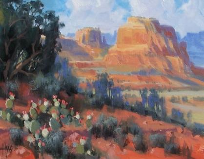 "Horsethief Basin - Sedona 11"" x 14"" oil painting by Tom Haas"