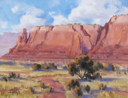 "Iron Oxide Range - Arizona 11"" x 14"" oil painting by Tom Haas"