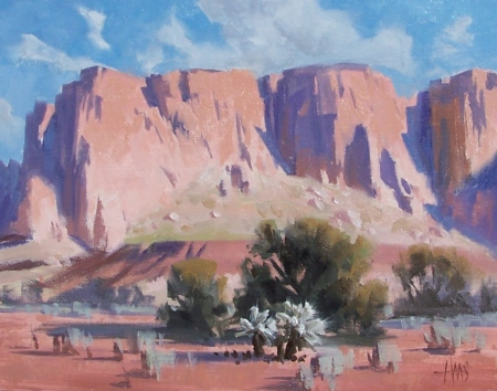 """Mystery Ranch - Arizona 11"""" x 14"""" oil painting by Tom Haas"""
