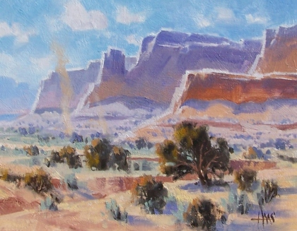 """Outback - Arizona 11"""" x 14"""" oil painting by Tom Haas"""