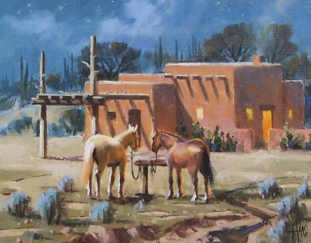 """Trading Post - Arizona 11"""" x 14"""" oil painting by Tom Haas"""