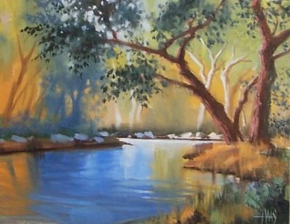 "Verde River - Arizona 11"" x 14"" oil painting by Tom Haas"
