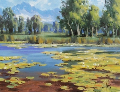 """Water Garden - Colorado 11"""" x 14"""" oil painting by Tom Haas"""