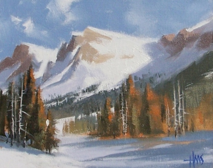 """Eagle Valley - Colorado 8"""" x 10"""" oil painting by Tom Haas"""