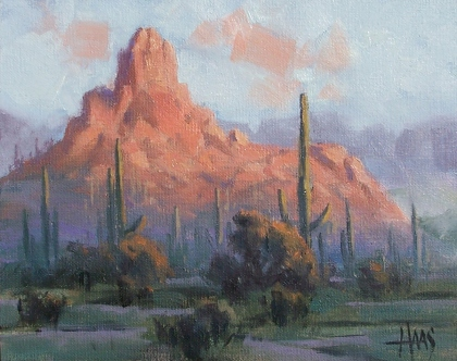 """First Light - Arizona 8"""" x 10"""" oil painting by Tom Haas"""