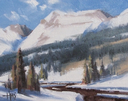 """Grand Scale - Colorado 8"""" x 10"""" oil painting by Tom Haas"""