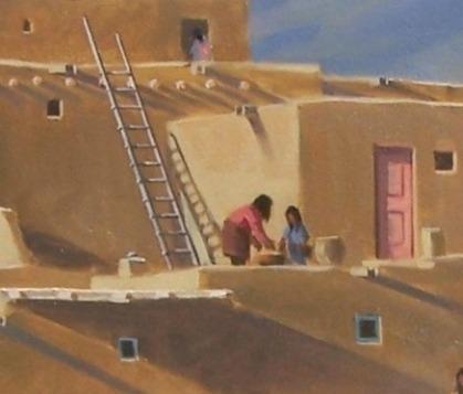 Pueblo Pinon Fires close-up 1