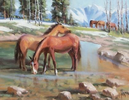 """San Juan Range - Colorado 11"""" x 14"""" oil painting by Tom Haas"""