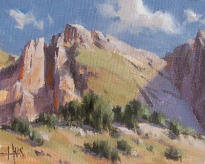 "Telegraph Pass - Arizona 8"" x 10"" oil painting by Tom Haas"