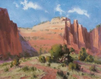 "Box Canyon - Northern Arizona 11"" x 14"" oil painting by Tom Haas"