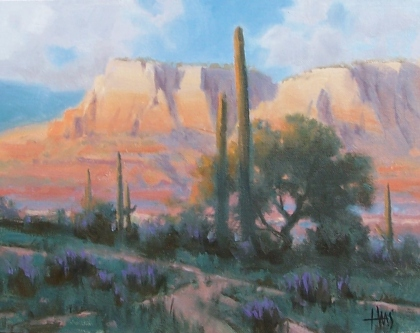 """Red Canyon - Arizona 11"""" x 14"""" oil painting by Tom Haas"""