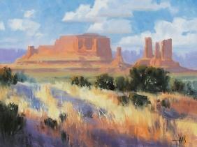 "Tribal Homeland - Monument Valley, Arizona/Utah Border 11"" x 14"" oil painting by Tom Haas"